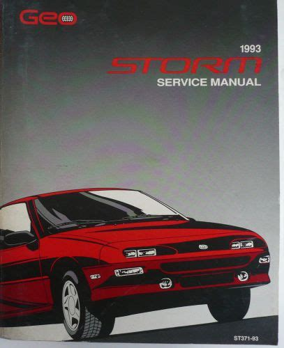 car owners manuals for sale 1993 geo storm head up display find monster 1993 geo storm factory oem service manual