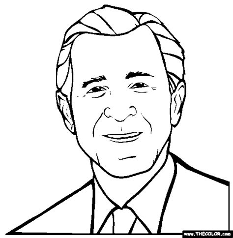 Drawing H Colour by George W Bush Coloring Page Free George W Bush