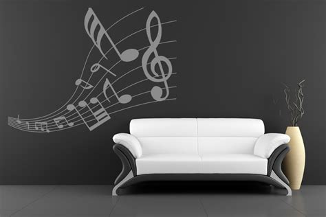 notes wall stickers musical symbol wave wall sticker notes wall