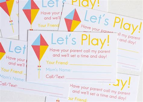 Playdate Cards Printable Template by Printable Playdate Invite Cards Somewhat Simple