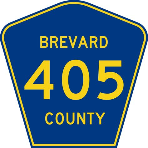 Brevard County Florida Records File Brevard County Road 405 Fl Svg Wikimedia Commons