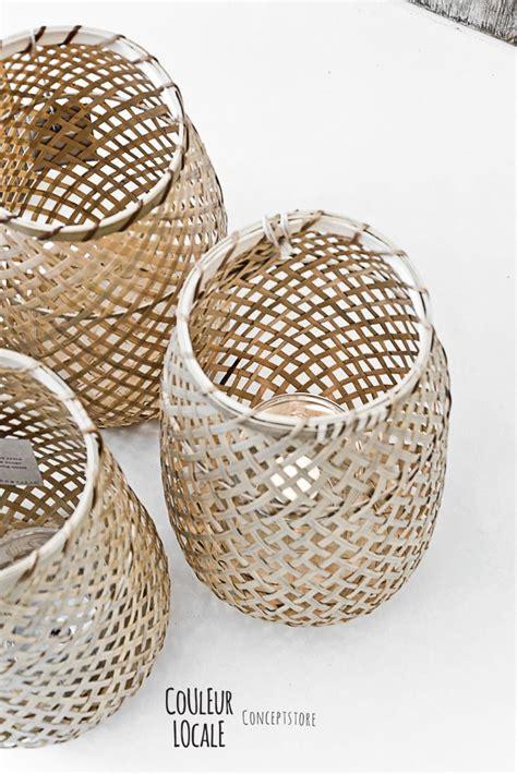 Rustikale Deko 3161 by Baskets Sodyb Windlicht Bambus Und K 246 Rbchen