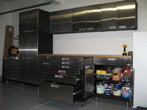 Black Metal Storage Cabinet With Doors And Drawers Also Metal Cabinets For Garage Storage