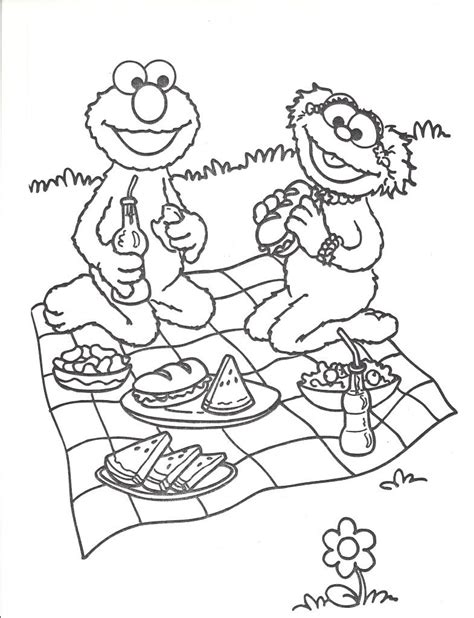 picnic coloring pages coloring pages picnics coloring home