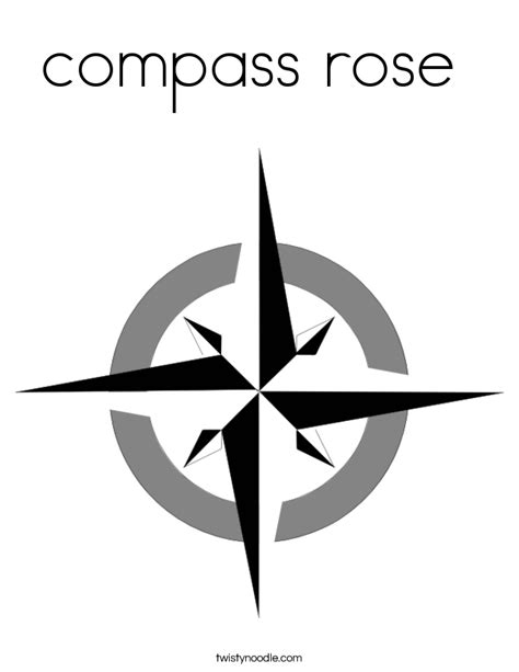 compass rose coloring page twisty noodle