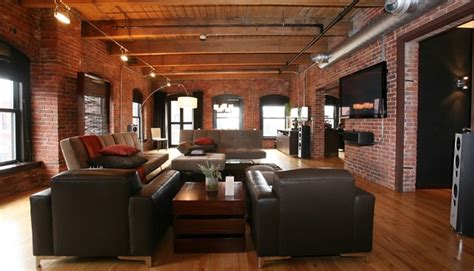 boston loft living room industrial family room