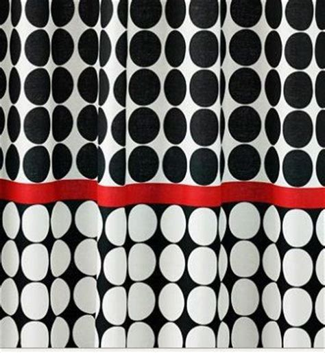 red black and white shower curtains graphite dot shower curtain black white red sale kohl s