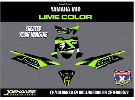 Termurah Sticker Striping Motor Stiker Yamaha Soul Gt Tribal Nofear S 1 yamaha mio sporty green lime color striping stickers decals joehansb jualdecal