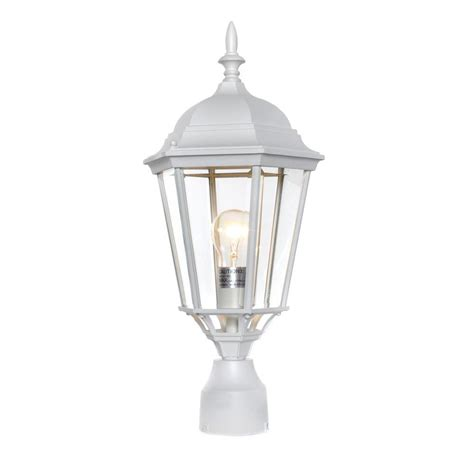 home depot outdoor lighting white maxim lighting westlake 1 light white outdoor pole post