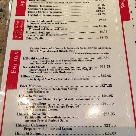 hibachi steak house, anaheim anaheim hlls menu, prices