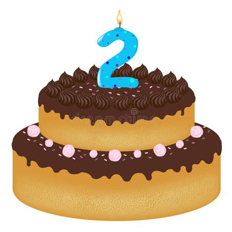 torta de cumplea 241 os con las velas del cumplea 241 os torta de cumplea 241 os con las velas ilustraci 243 n del vector