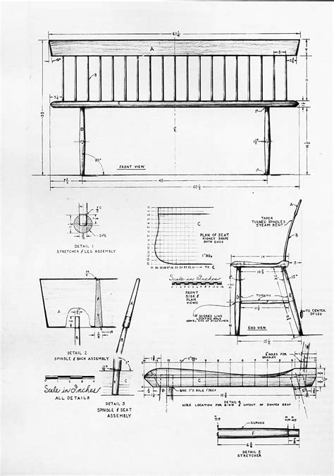 bench diagram bench diagram 28 images drawing bench plans drawing