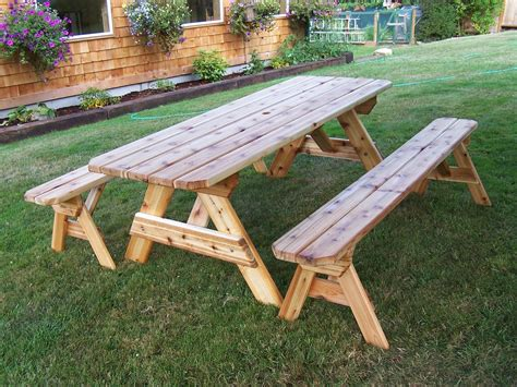 build a picnic table with detached benches diy fold able pallet bench picnic table table with bench
