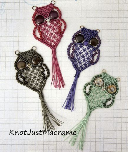 Macram Craft - wonderful diy macrame owls and