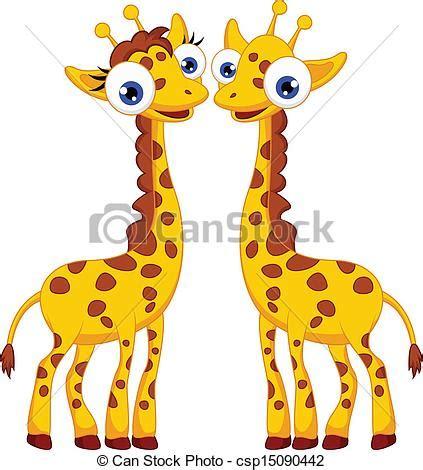 imagenes de jirafas caricaturas eps vector de lindo pareja jirafa caricatura vector