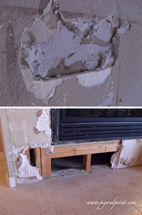 Fireplace Demolition by Pig And Paint Fireplace Demolition Time
