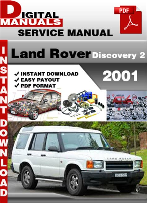 car repair manuals download 2001 land rover discovery spare parts catalogs land rover discovery 2 2001 factory service repair manual downloa