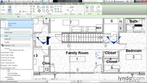 tutorial revit electrical adding electrical receptacles