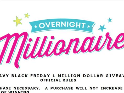 Old Navy Million Dollar Giveaway Winner - old navy black friday 1 million dollar giveaway sweepstakes fanatics
