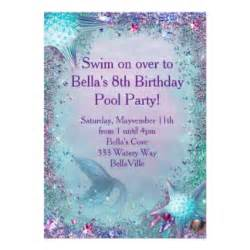 mermaid party invitations amp announcements zazzle