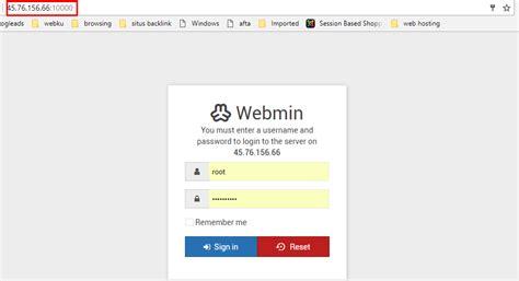 cara membuat vps di webmin cara install webmin di centos 7 tutorialpedia