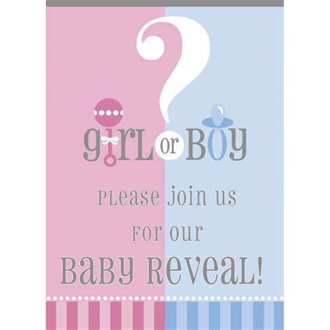 gender reveal baby shower baby shower invitations