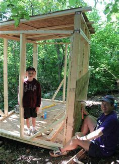 build a backyard fort backyard fort on pinterest outdoor forts playhouse plans and kids tree forts