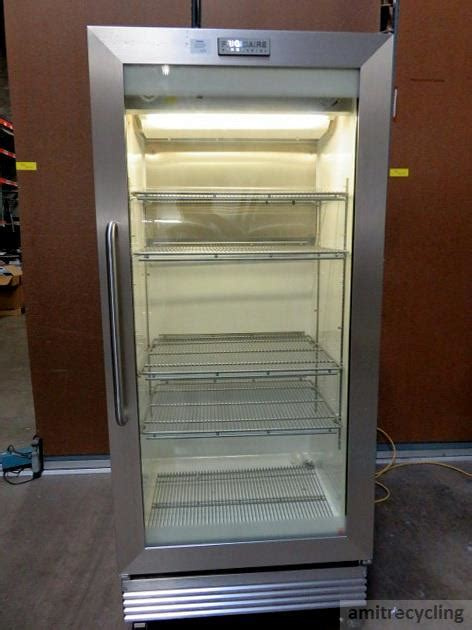 Commercial Glass Door Refrigerator Used Frigidaire Fcgm201rfb1 Commercial Stainless Steel Glass Door Refrigerator Fridge Ebay