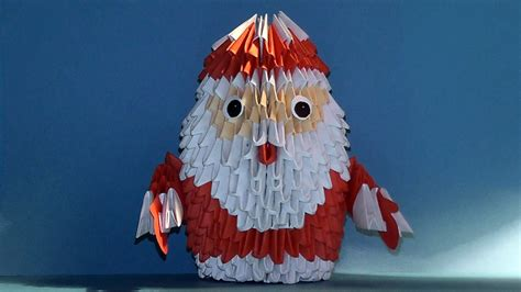 How To Make A 3d Santa Out Of Paper - 3d origami santa claus tutorial