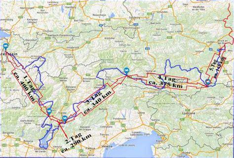 Motorradtour Nach Italien by Motorradtouren Gardasee Karte My