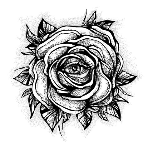 detailed rose tattoo designs blackwork flash flower highly detailed