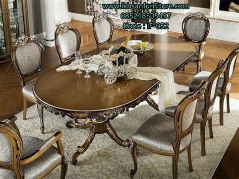 Meja Makan Jati 8 Kursi jual set meja makan jati 8 kursi mewah terbaru murah ikhsan furniture jepara