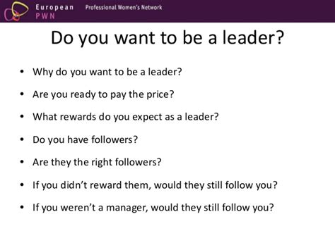 why do you want to be section leader the leader inside you power or influence