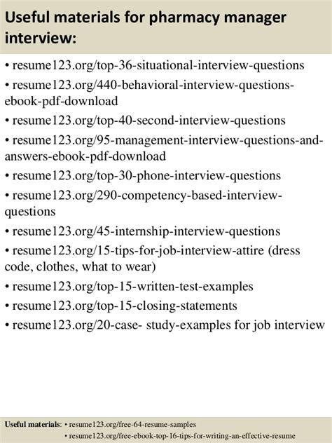 Job Responsibilities Resume by Top 8 Pharmacy Manager Resume Samples