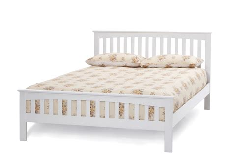 white wooden bed frame serene amelia opal white bed frame