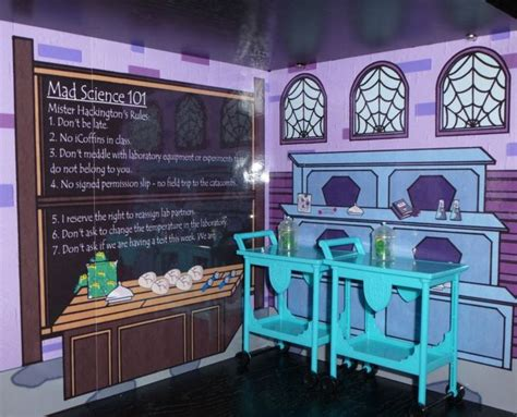 monster high school doll house monster high school doll house bookcase kit mad science home ick