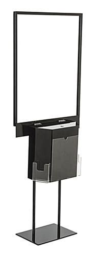 Sweepstakes Box - black sign stand with sweepstakes box steel frame