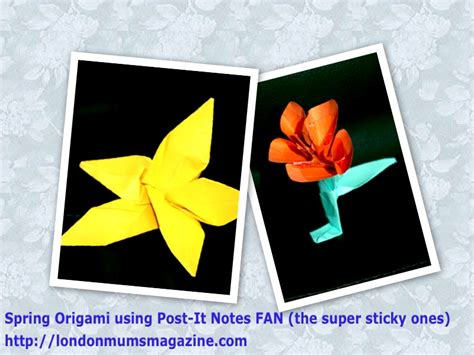 Origami Post It Notes - s day keepsakes creative activities