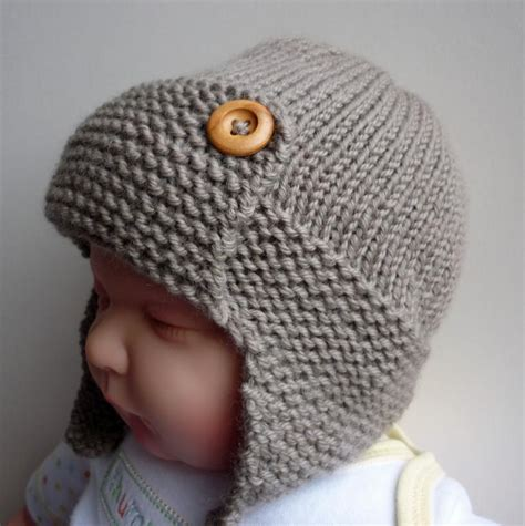 toddler knit hat baby aviator hat regan by julie craftsy