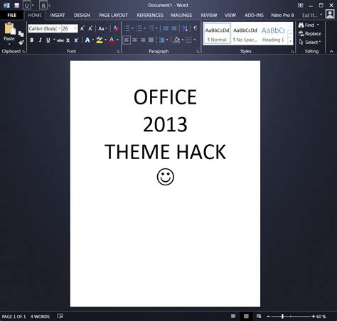 Office 2013 Themes darker office 2013 theme hacks office 2013 themes