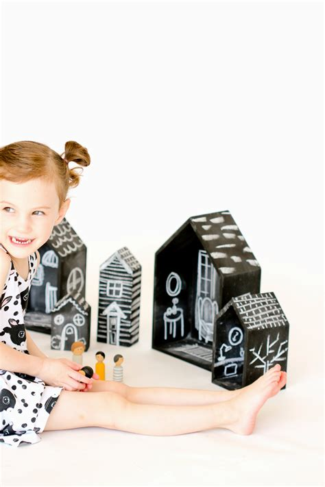 my doll house raw diy chalkboard dollhouses tutorial