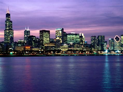 chicago il chicago skyline backgrounds wallpaper cave