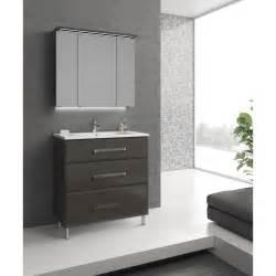 meuble de salle de bains de 80 224 99 gris argent opale