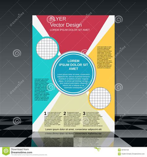 professional poster design templates professional business flyer template stock vector image