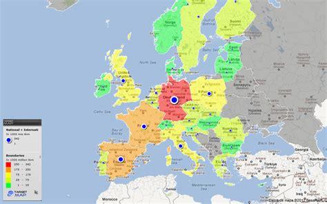road map of europe europe map of european road transport national