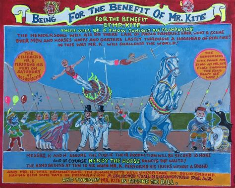 being for the benefit of mr kite being for the benefit of mr kite painting by jonathan morrill