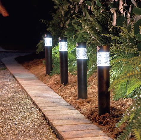 patio ls outdoor lighting solar outdoor path lights plow hearth solar path lights
