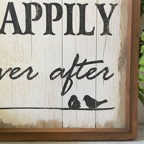 happily ever after wall sign humble home