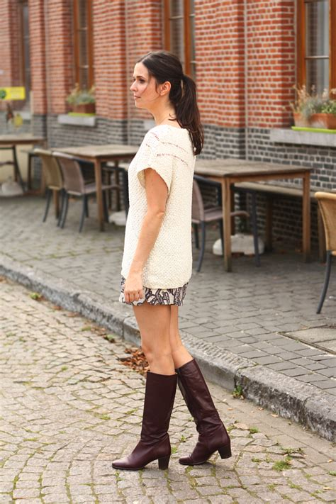 selected shorts and knee high boots the styling dutchman