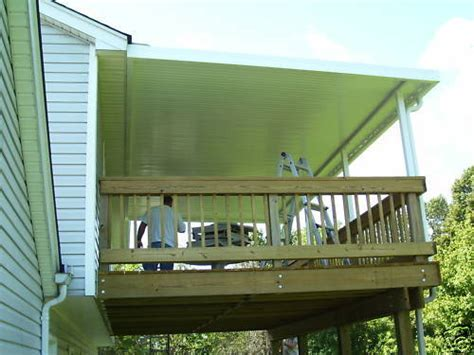 patio awning kit 12x20 030 gauge aluminum awning awnings patio cover kit